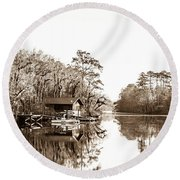 Round Beach Towel featuring the photograph Florida by Shannon Harrington