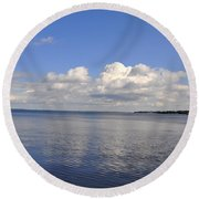 Round Beach Towel featuring the photograph Floridian View by Sarah McKoy