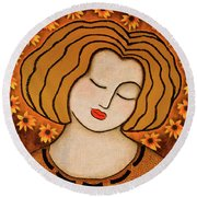 Flowering Intuition Round Beach Towel