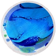 Fluidism Aspect 166 Photography Round Beach Towel