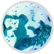 Fluidism Aspect 468 Photography Round Beach Towel