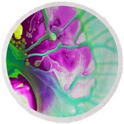Fluidism Aspect 524 Photography Round Beach Towel