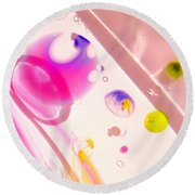 Fluidism Aspect 561 Photography Round Beach Towel