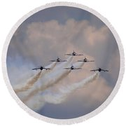 Flying In Formation Round Beach Towel by Julia Wilcox