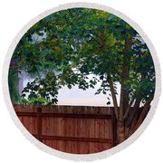 Fog In Olympia Round Beach Towel by Jeanette C Landstrom