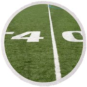 Round Beach Towel featuring the photograph Football Field Forty by Henrik Lehnerer