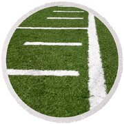 Round Beach Towel featuring the photograph Football Lines by Henrik Lehnerer