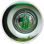 Round Beach Towel featuring the photograph Ford 1946 by Anna Ruzsan