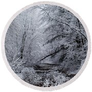 Forest Lace Round Beach Towel by Christian Mattison