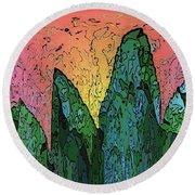 Forests Edge Round Beach Towel