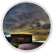 Fort Clinch Round Beach Towel