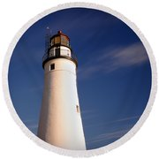 Round Beach Towel featuring the photograph Fort Gratiot Lighthouse by Gordon Dean II