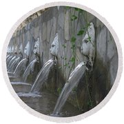 Round Beach Towel featuring the photograph Fountain by David Gleeson