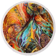 Four Elements Earth Part 3 From 4 Round Beach Towel