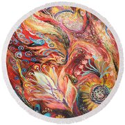 Four Elements Fire Part 4 From 4 Round Beach Towel