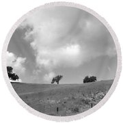 Round Beach Towel featuring the photograph Four On The Hill by Kathleen Grace