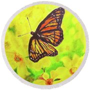 Free To Fly Round Beach Towel by Beth Saffer