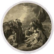 French And Indian War, General Wolfes Round Beach Towel