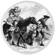 Frontier Family, 1755 Round Beach Towel