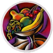 Fruits Round Beach Towel