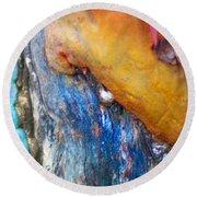Round Beach Towel featuring the digital art Ganesh by Richard Laeton