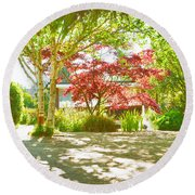 Garden Shade Round Beach Towel