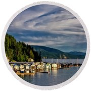 Round Beach Towel featuring the photograph Garfield Bay by Albert Seger