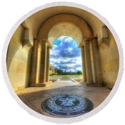 Gateway To A New Life Round Beach Towel
