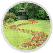 Gazebo Round Beach Towel by Richard Bryce and Family