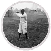 Round Beach Towel featuring the photograph Gene Sarazen - Professional Golfer by International  Images