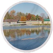 Round Beach Towel featuring the photograph Genesee River Panorama by William Norton