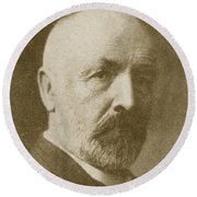 Georg Cantor, German Mathematician Round Beach Towel