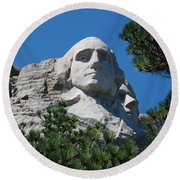 George Washington Face  Round Beach Towel by Dany Lison