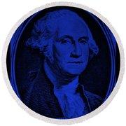 George Washington In Blue Round Beach Towel
