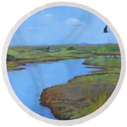 Georgia Marsh Round Beach Towel