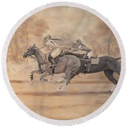 Ghost Riders Round Beach Towel
