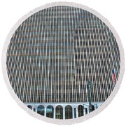 Round Beach Towel featuring the photograph Giant Bank Of M And T by Michael Frank Jr