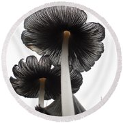 Giant Mushrooms In The Sky Round Beach Towel by Kent Lorentzen