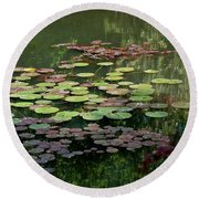 Giverny Lily Pads Round Beach Towel by Eric Tressler