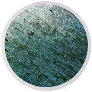 Glass Strata Round Beach Towel
