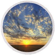 Glorious Sunrise Round Beach Towel by Jim And Emily Bush