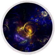 Glorious Univers Round Beach Towel by Klara Acel