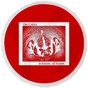 Round Beach Towel featuring the photograph Go Go Badgers by Zafer Gurel