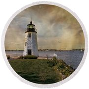Goat Island Light Round Beach Towel