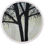 God Whispers Round Beach Towel