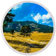 Round Beach Towel featuring the photograph God's Country by Shannon Harrington