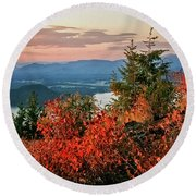 Round Beach Towel featuring the photograph Gold Hill Sunset by Albert Seger
