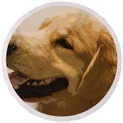 Golden Boy Round Beach Towel