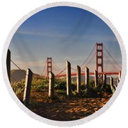Golden Gate Bridge - 2 Round Beach Towel