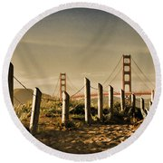 Golden Gate Bridge - 3 Round Beach Towel